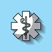 medicine emblem with snake