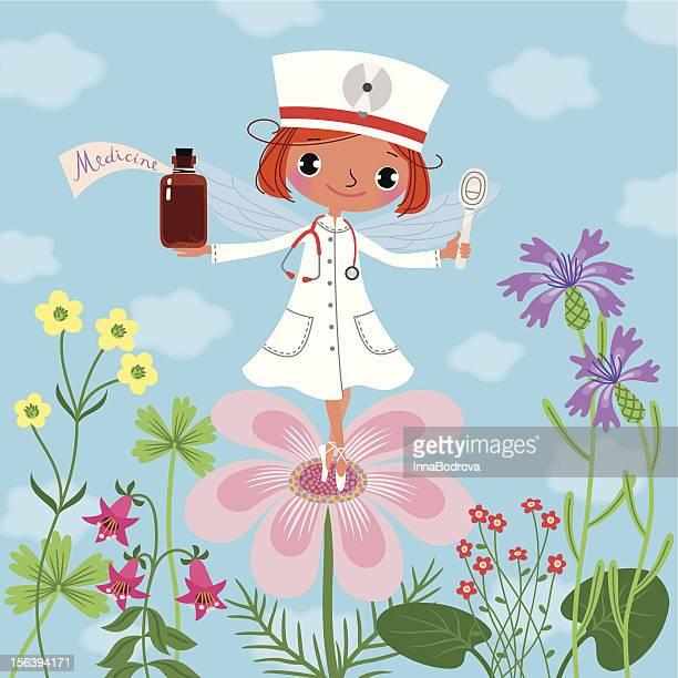 医学フェアリーます。 - ホメオパシー薬点のイラスト素材/クリップアート素材/マンガ素材/アイコン素材