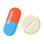 medicine Flat Design icon isolated on white background