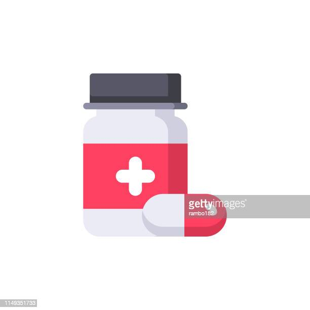 medicine flat icon. pixel perfect. for mobile and web. - aspirin stock illustrations