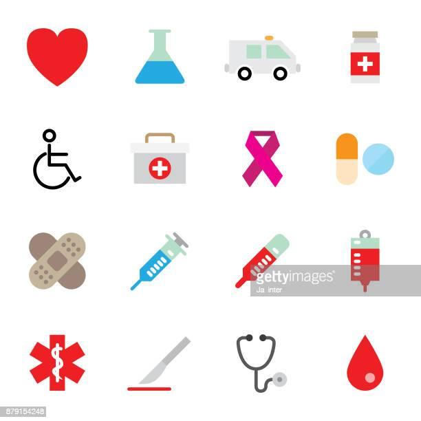 ilustraciones, imágenes clip art, dibujos animados e iconos de stock de icono de color de la medicina y la salud - maletín