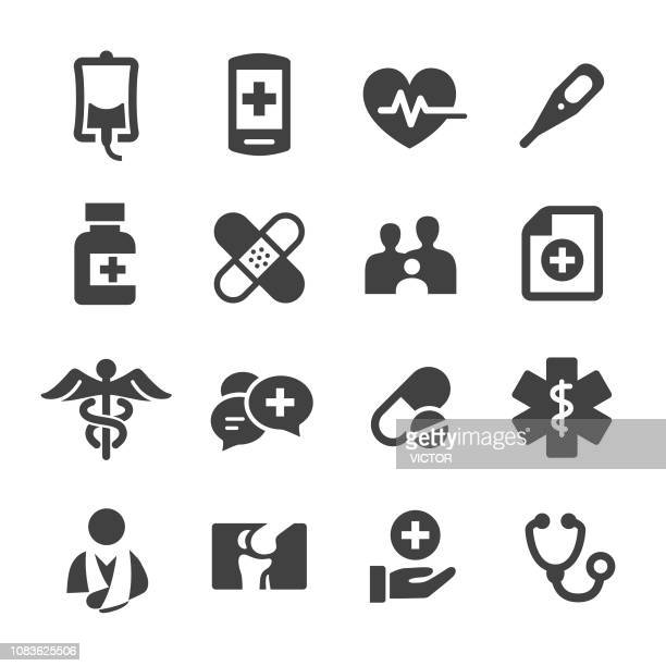 medicine icons - acme series - blood bag stock illustrations, clip art, cartoons, & icons