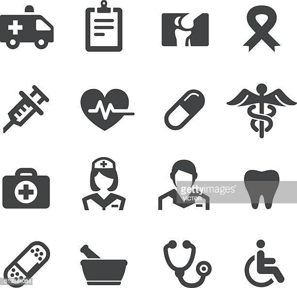 medicine icons - acme series - medical symbol stock illustrations, clip art, cartoons, & icons