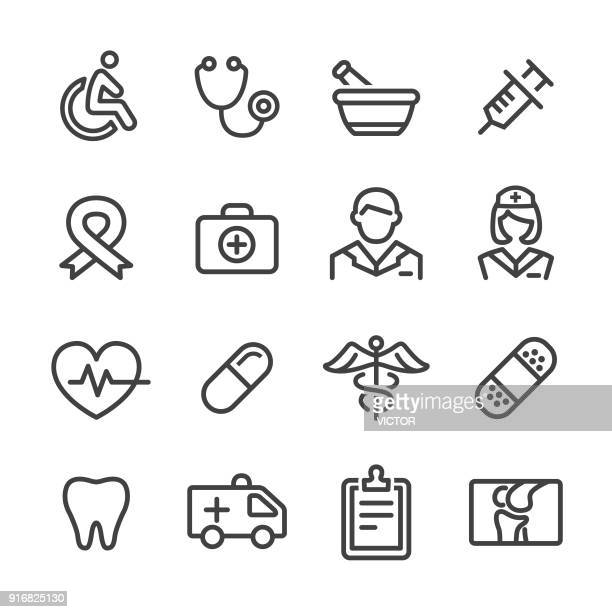medicine icons - line series - chest torso stock illustrations, clip art, cartoons, & icons