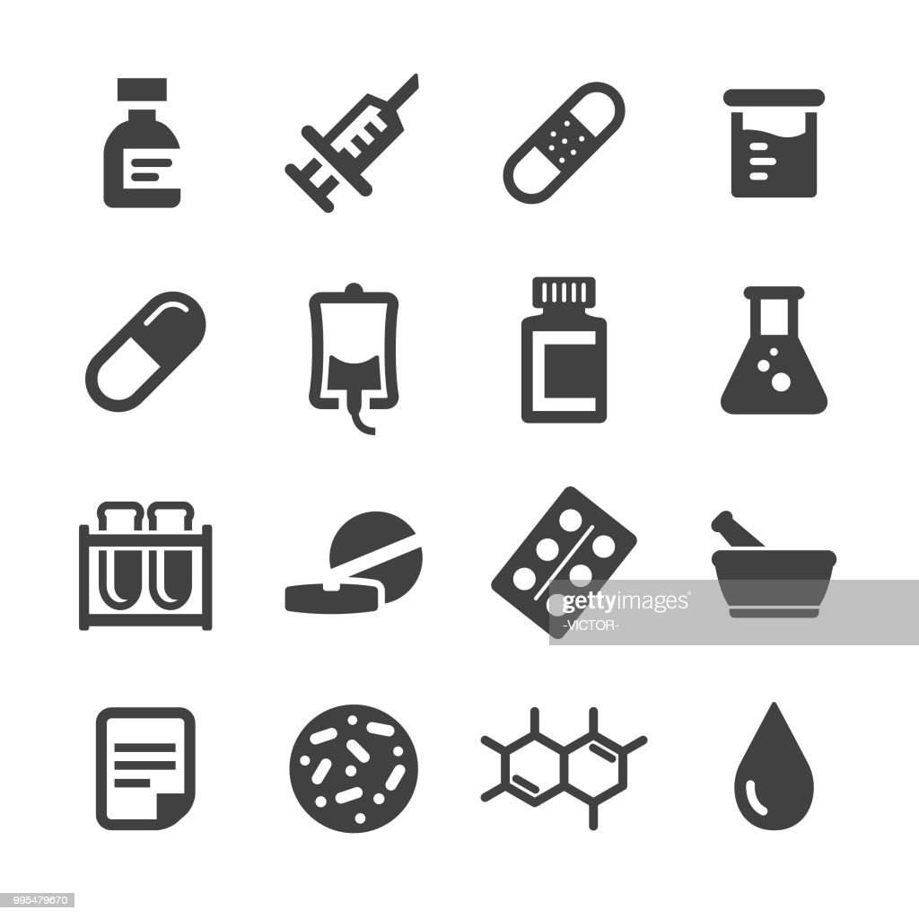 Conjunto de ícones de medicina - série Acme : Ilustração