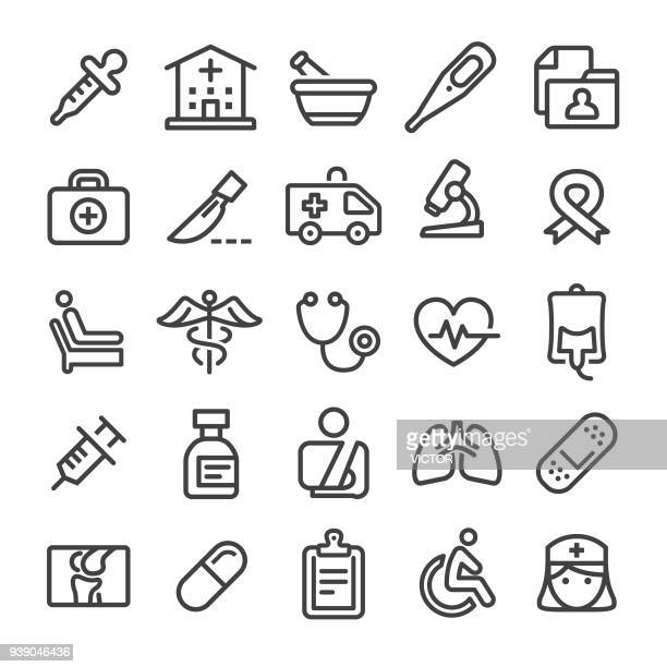 medicine icons - smart line series - medical exam stock illustrations
