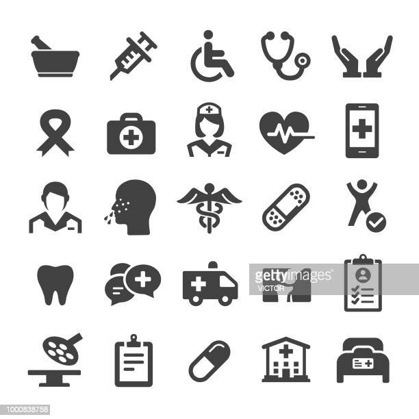 medicine icons - smart series - disabled access stock illustrations, clip art, cartoons, & icons