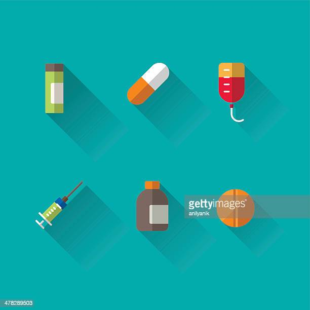 medicine icons - recreational drug stock illustrations, clip art, cartoons, & icons