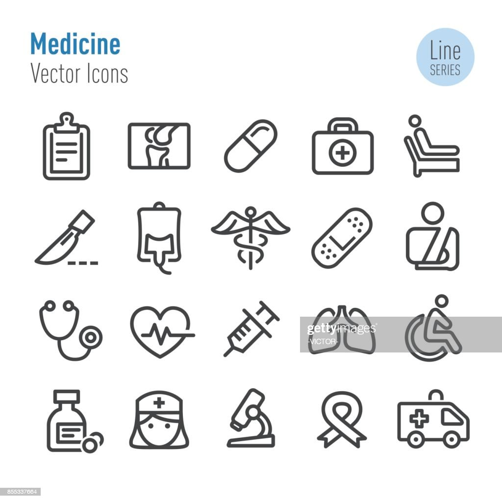 Medicine Icons - Vector Line Series : stock illustration