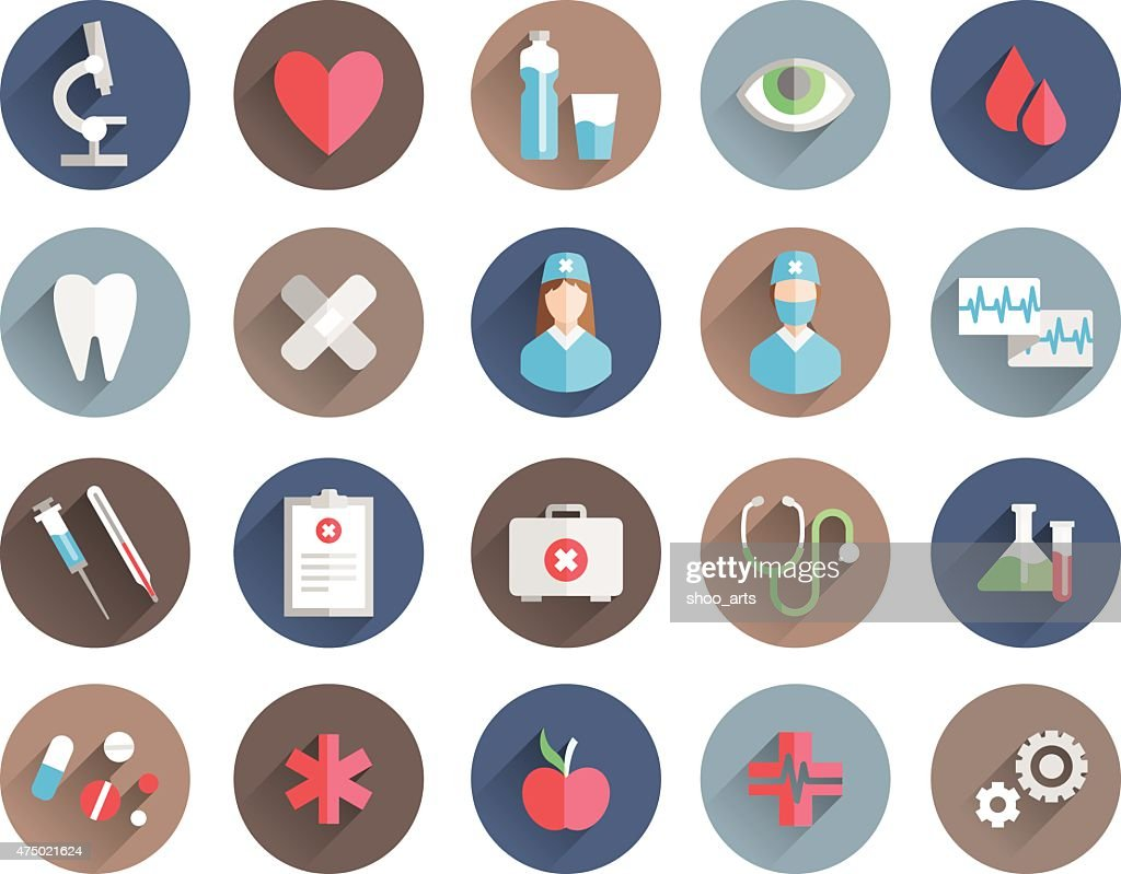 medicine icons vector set