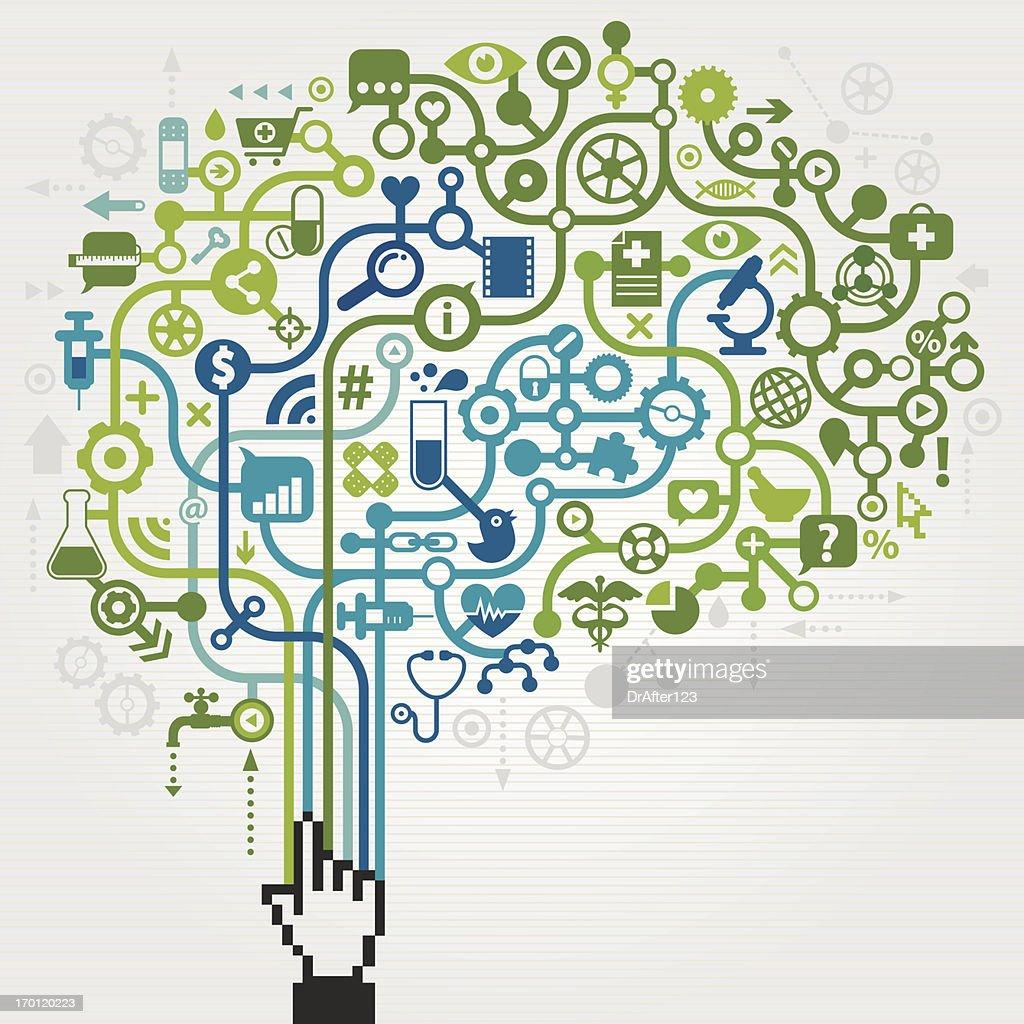 Medicine Science Brain Concept : stock illustration