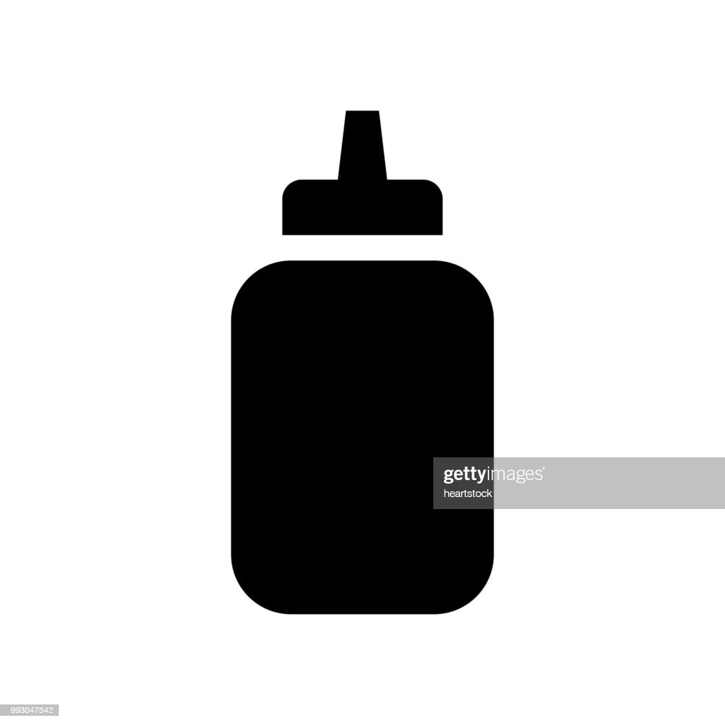 Medicine small bottle with dropper included for drops dosage icon vector icon. Simple element illustration. Medicine small bottle with dropper included for drops dosage symbol design. Can be used for web and mobile.