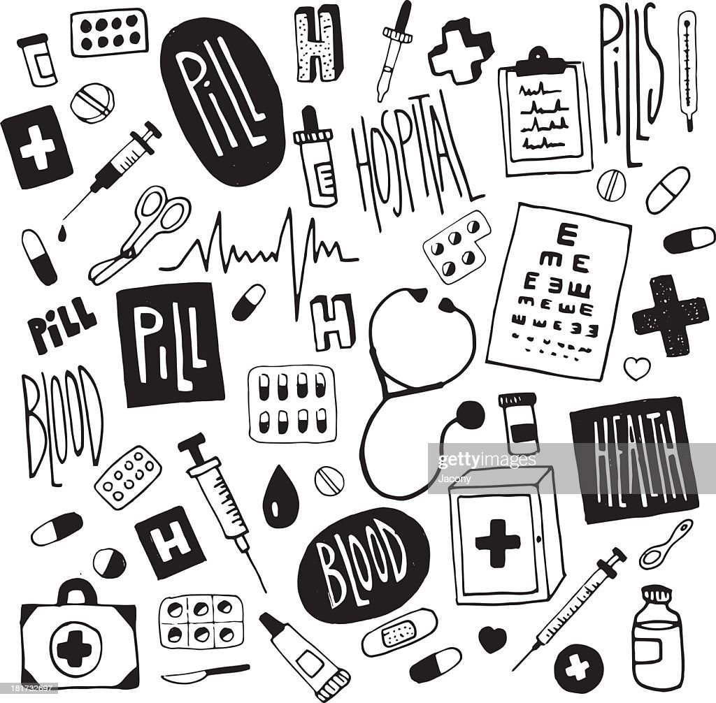 Medicine-doodles illustration