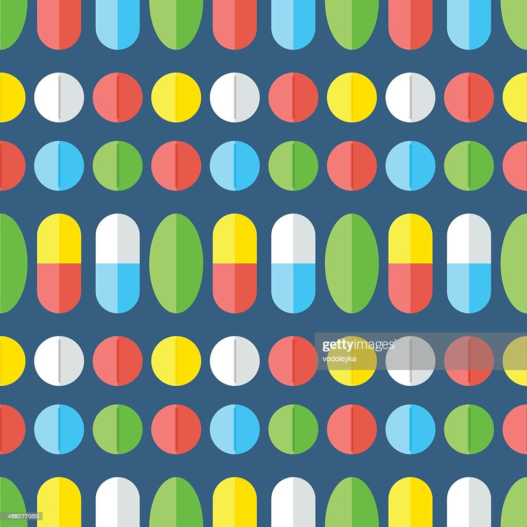Medicines, seamless pattern.