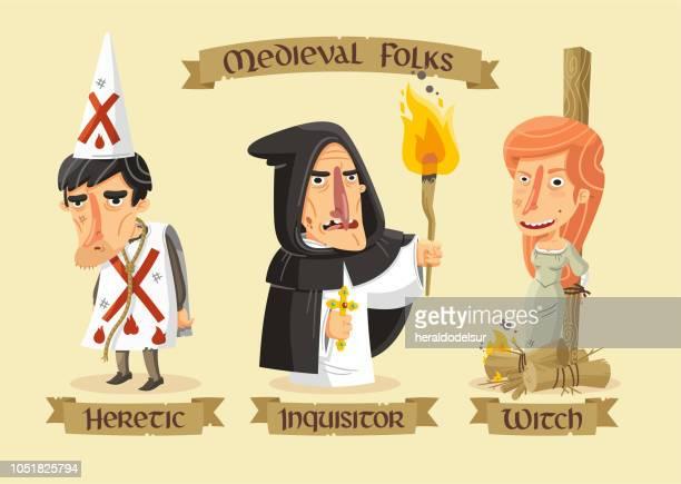 Mittelalterliche Figuren set