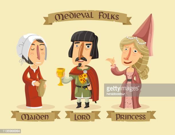Mittelalterliche Charaktere gesetzt