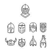 Medieval helmet icon