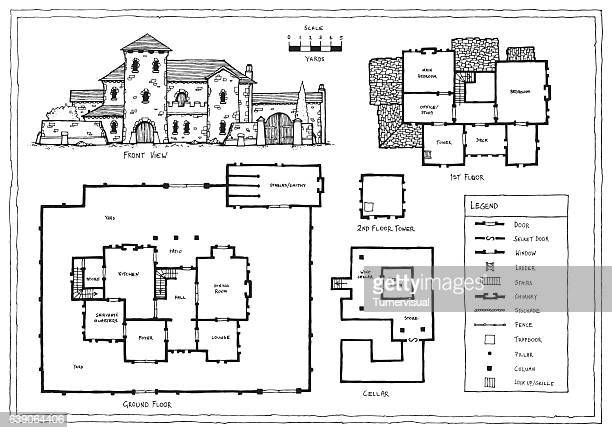 Medieval Italian or Spanish Villa Plan