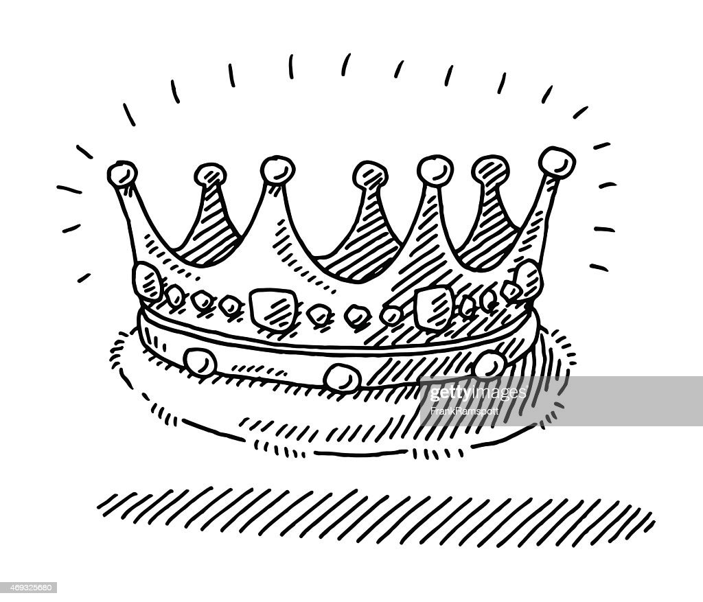 Medieval King's Crown Drawing