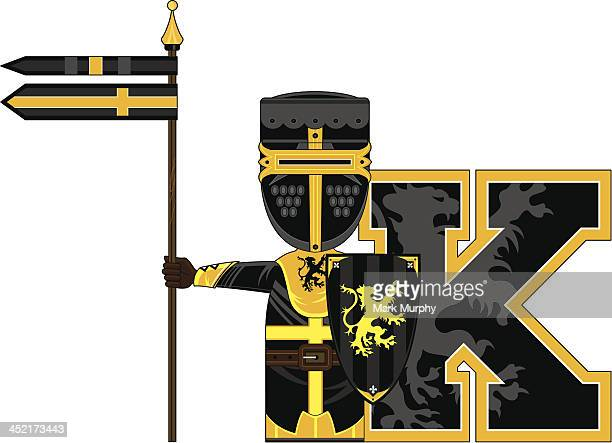 Medieval Knight Learning Letter K