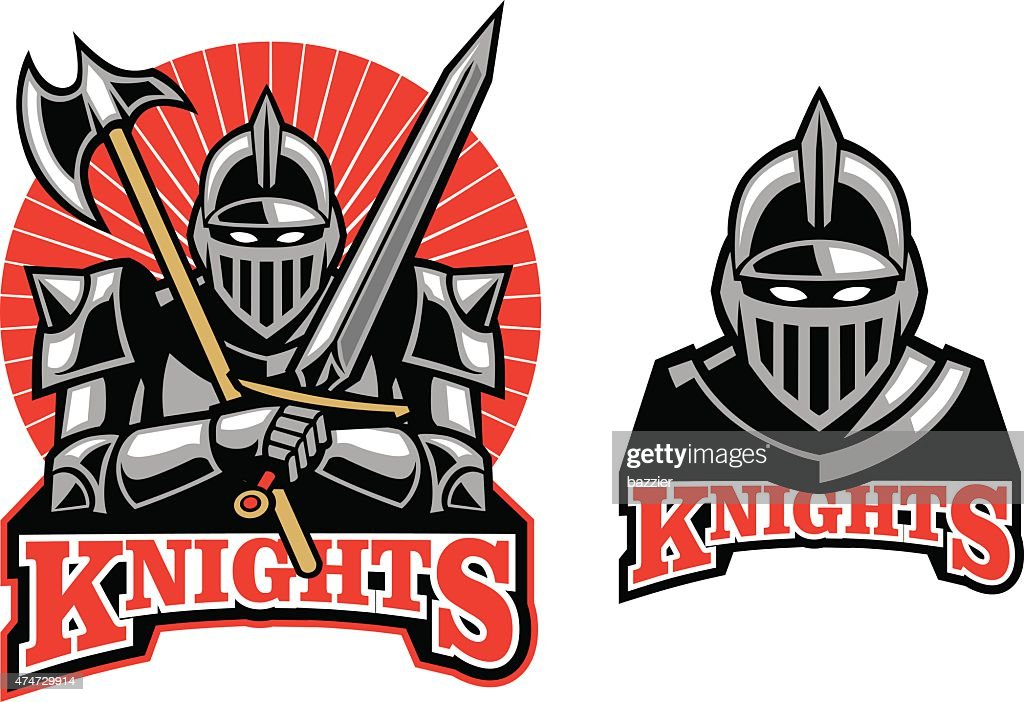 medieval knight mascot