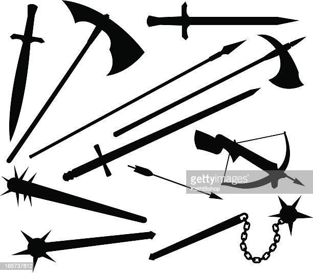 Medieval or Renaissance Weapons, Sword, Hatchet