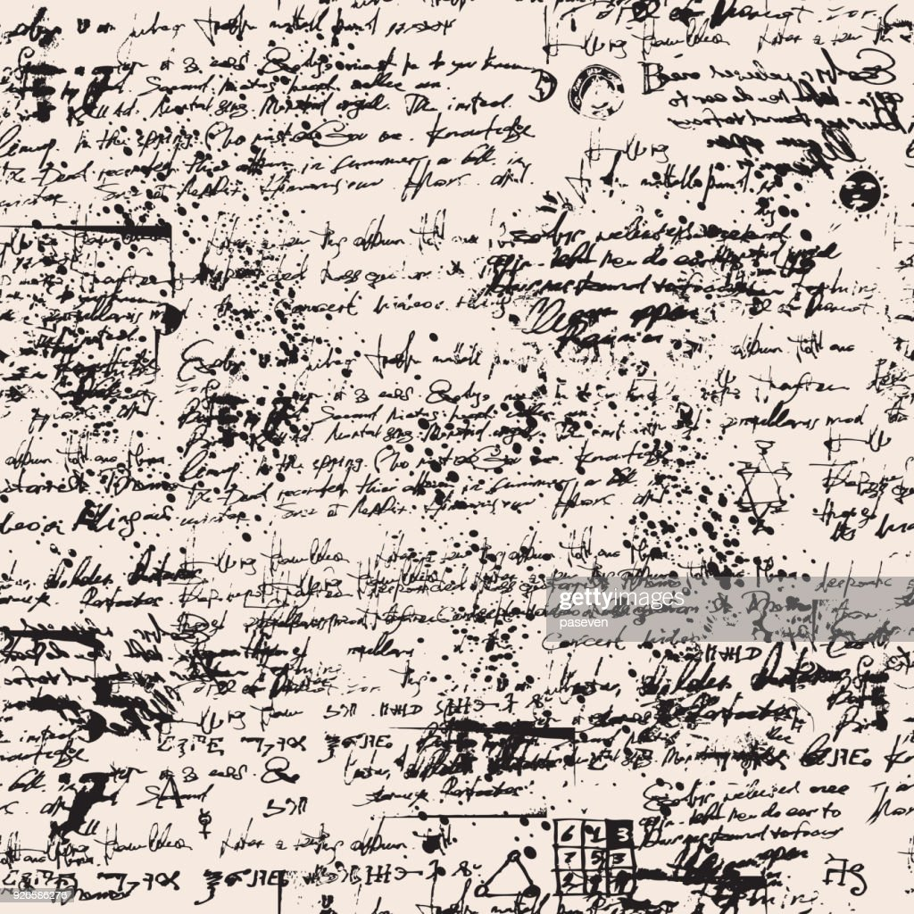 medieval papyrus with blots and scribbles
