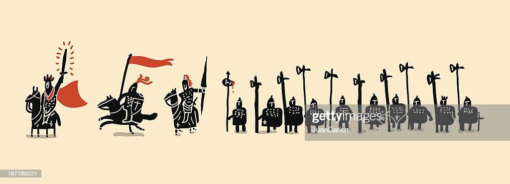medieval soldiers set