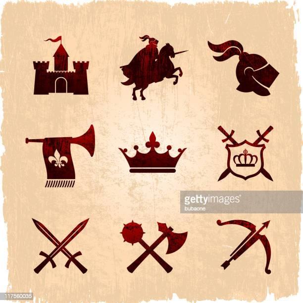 Medieval times icon set