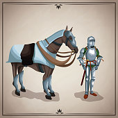 Medieval warrior with horse