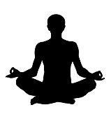 meditating lotus pose vector silhouette