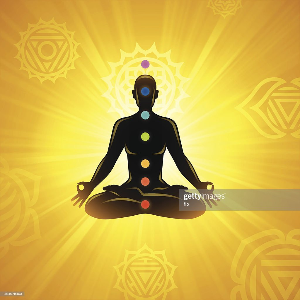 meditation background vector art
