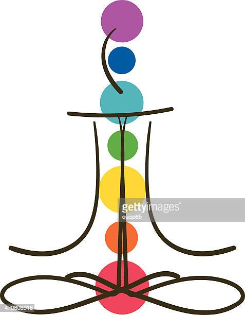 meditation chakra - chakra stock illustrations, clip art, cartoons, & icons
