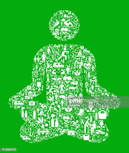 meditation  green medical rehabilitation physical therapy - work romance stock illustrations, clip art, cartoons, & icons