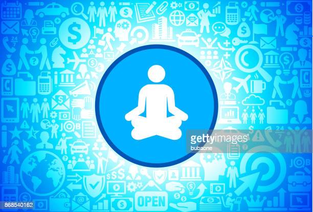 Meditation  Icon on Business and Finance Vector Background