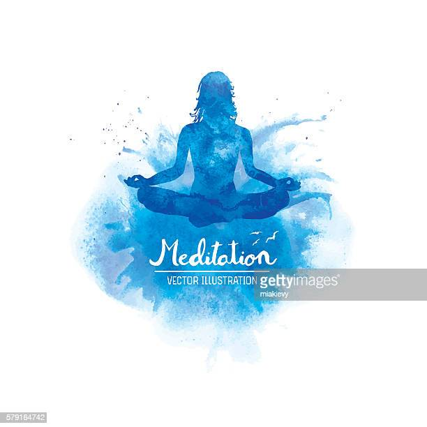 meditation - spirituality stock illustrations, clip art, cartoons, & icons