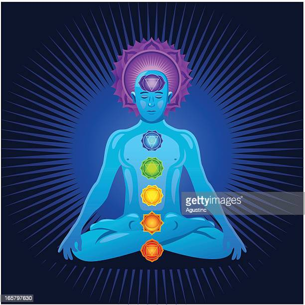 illustrations, cliparts, dessins animés et icônes de méditation et les chakras - chakra