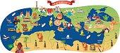 Mediterranean Cartoon map
