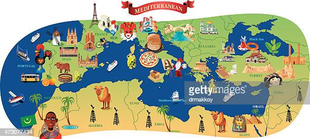 Mediterranean Cartoon map