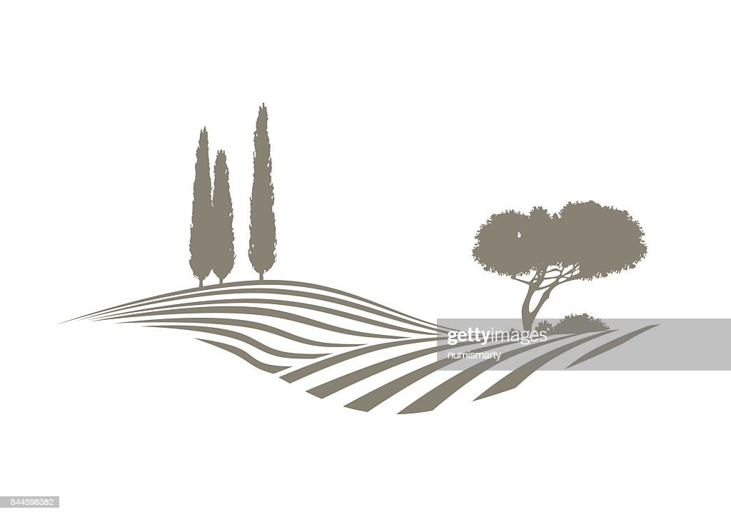 mediterranean vector landscape