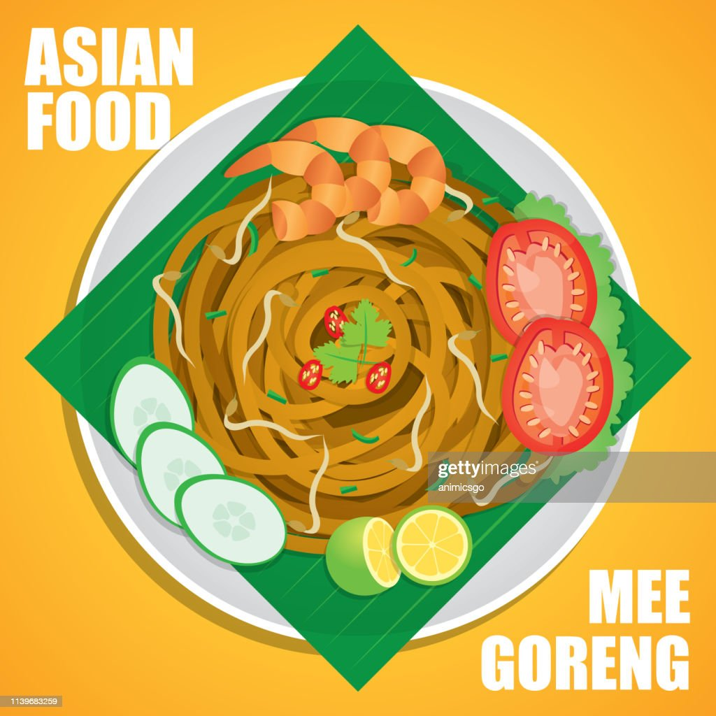 """Mee goreng meaning """"fried noodles"""", is an often spicy fried noodle dish, originating from originating from Southeast Asia, common in Indonesia, Malaysia, Brunei Darussalam, and Singapore."""
