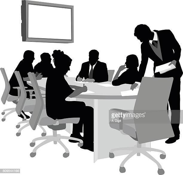 Meeting Distributing Papers