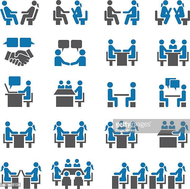Meeting icon set