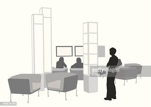Meeting Lobby Vector Silhouette