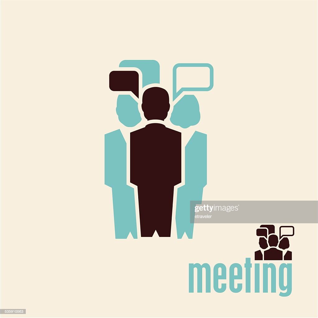 Meeting. People talking.