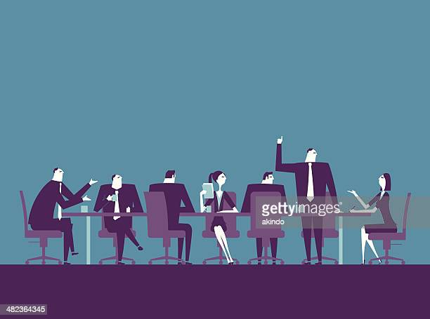 meeting - group of objects stock illustrations