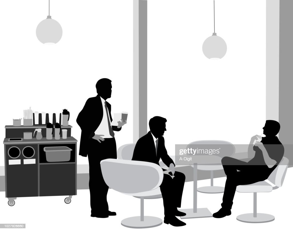 MeetingPotentialClientsCafe : Stock-Illustration
