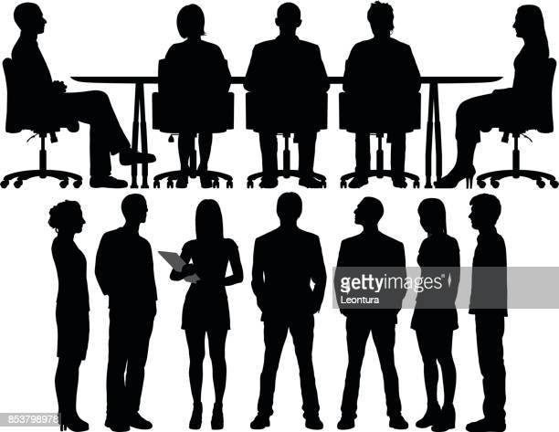 meetings - board room stock illustrations