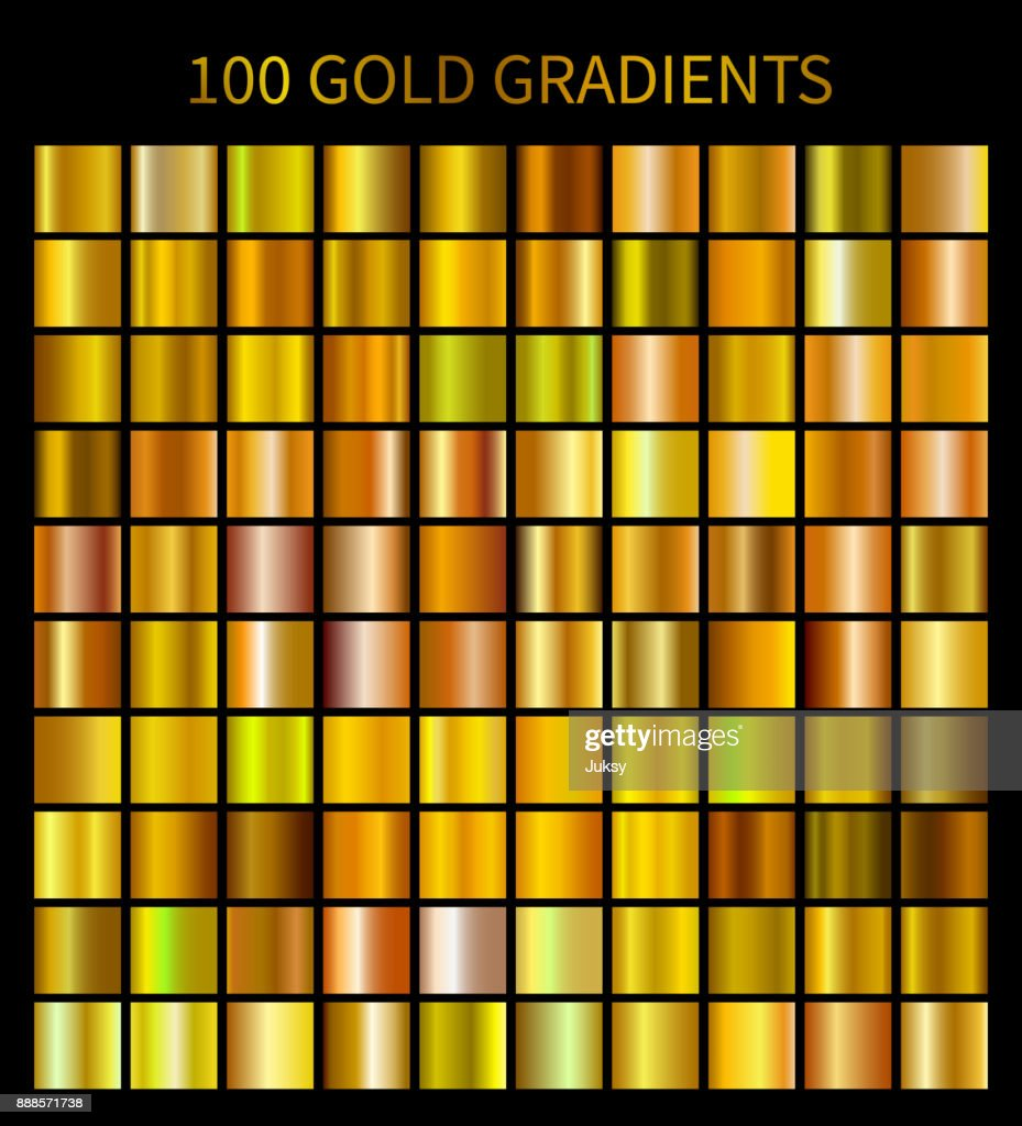 Mega collection of golden gradients