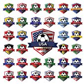 Mega Collection of soccer ( football ) badge